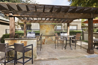 Grills and outdoor resident lounge