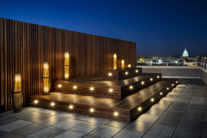 Rooftop lounge with stunning capitol views