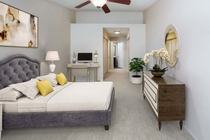 Bedroom with room for a home office