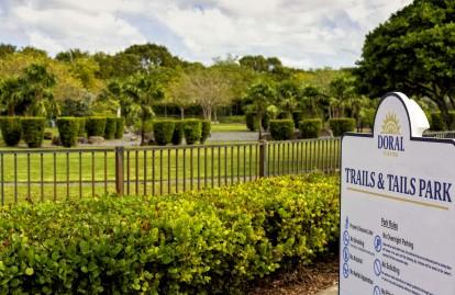 Neighborhood trails and tails dog park
