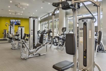 Fitness center strength training