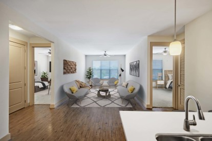 Two bedroom living room and bedrooms