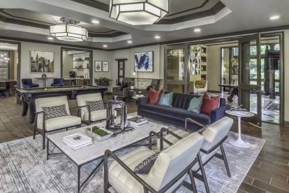 Resident lounge with billards entertaining space