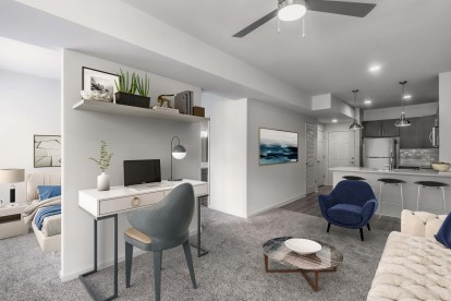Studio apartment and work from home space