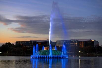 Lake eola nighttime fountain