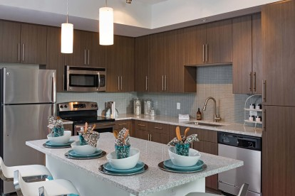 Espresso cabinets kitchen with granite countertops energy efficient stainless appliances