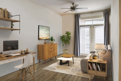 Living room space to work from home