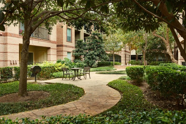 Scenic Courtyards with Green Space and Grills
