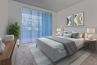 With spacious bedrooms