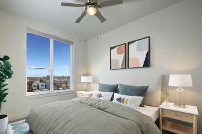 Spacious Bedroom at Camden Rino Apartments in Denver, CO