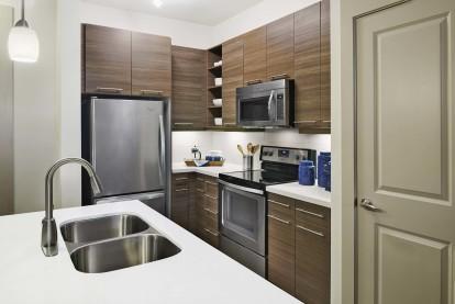Modern kitchen with storage