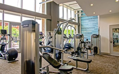 Fitness center with cardio and strength equipment