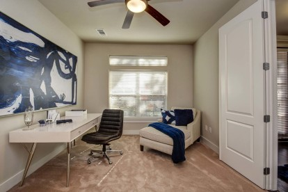The townhomes flex spaces for home offices