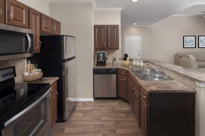 Top floor kitchen with stainless steel appliances