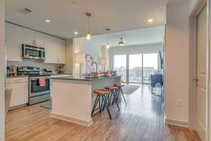 Open concept apartment at Camden Music Row