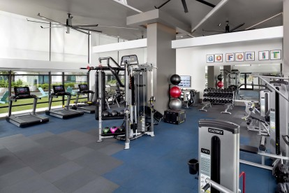The fitness center is also on the seventh floor and overlooks the pool deck. The latest strength training and cardio equipment are all here to help you achieve your fitness goals.