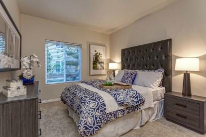 Bedroom with baseboard molding