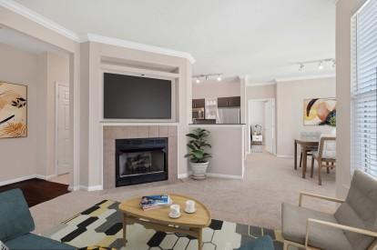 Open concept living at Camden Fallsgrove
