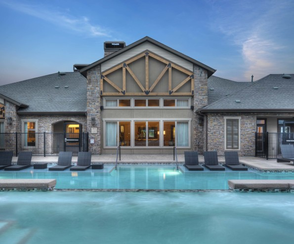 Pool and spa clubhouse
