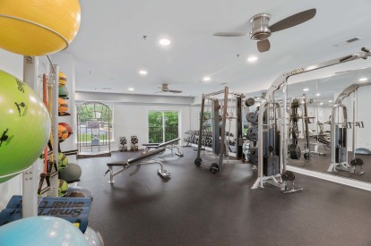 Fitness center with weight and strength training