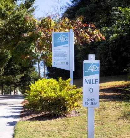 Path400 walking trail near community