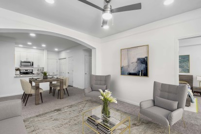 Open concept living at Camden Crest is Raleigh, NC