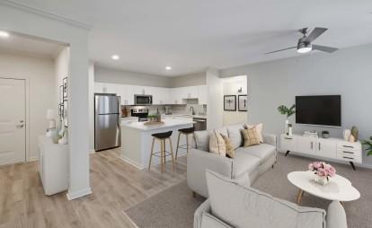 Open concept style large floor plans