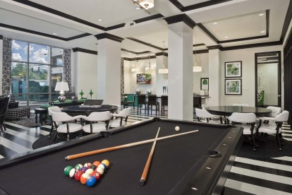 Billiards table in resident lounge
