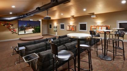 Movie theater at Camden Farmers Market Apartments in Dallas, TX