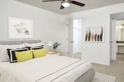 Large bedroom with large walk in closet