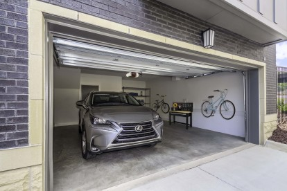 Townhome double car garage
