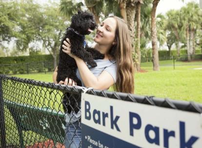 Dog ppark for our four legged residents