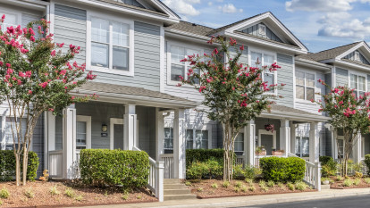 Apartment entry directly from street at Camden Governors Village Apartments in Chapel Hill, NC