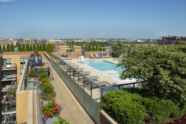 Relaxing rooftop pool at Camden NoMa