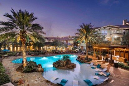 One two and three bedroom apartments and townhomes with resort style pool