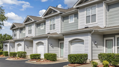 Attached garages at Camden Governors Village Apartments in Chapel Hill, NC