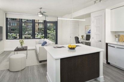Sleek contemporary style apartment with beautiful balcony