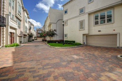 The townhomes private garage entrances
