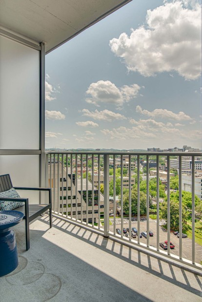 Private balcony with views of Nashville