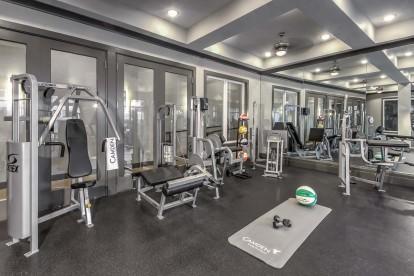 Fitness center weight machines