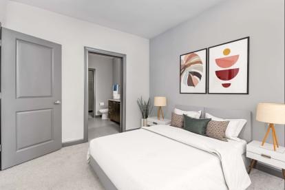 Bedroom with ensuite bath