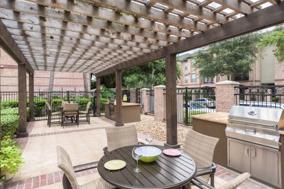 Outdoor grilling and dining area