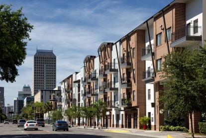 Exterior of building and orange avenue