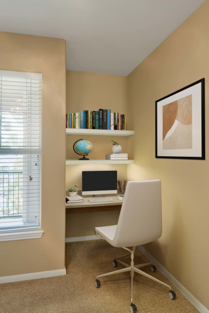 Bedroom with space to work from home