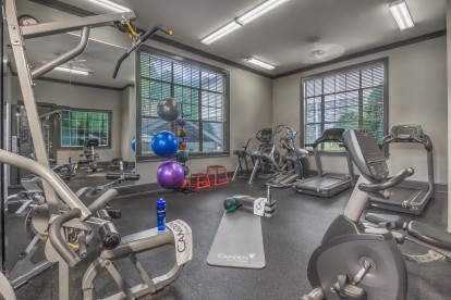 Fitness center with strength training