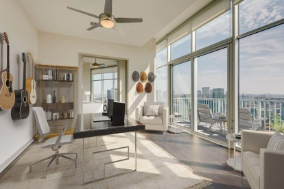 Camden Music Row Apartments Penthouse Flex Space perfect for a Home Office