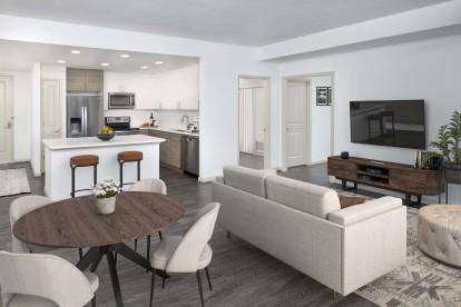 Large open concept apartment home