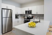 Kitchen with modern stainless steel appliances