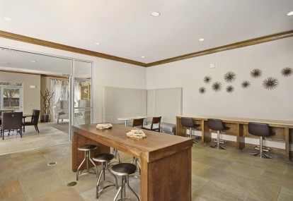 Community workspace with wifi and work stations