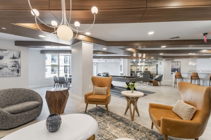 Resident lounge available for resident events
